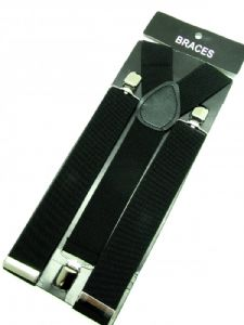 Black Braces 3 cm wide